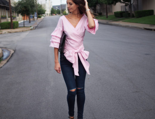 pink big bow top dupe dallas fashion blogger