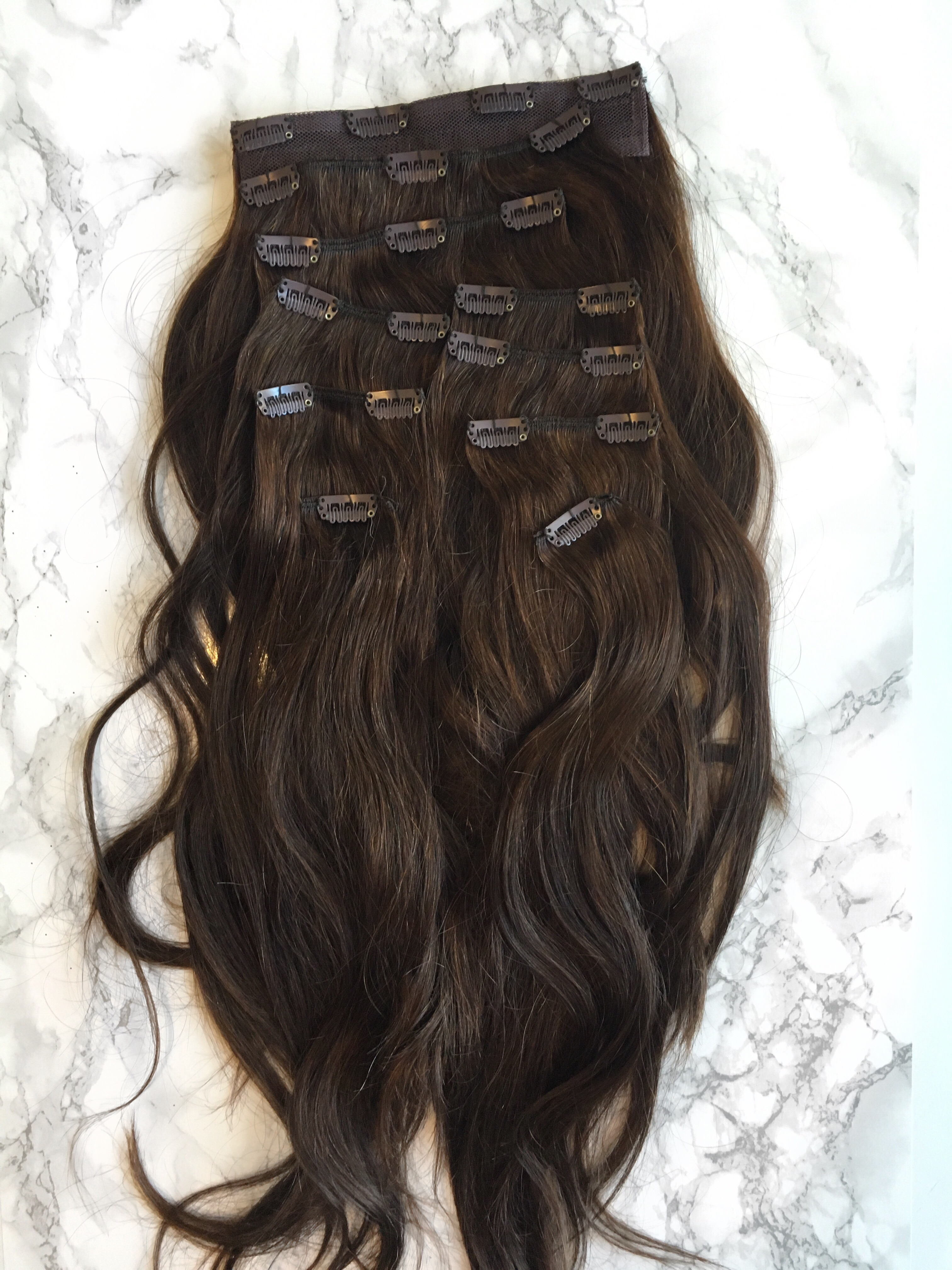 Clip-In Hair Extension Tips. These are the all the pieces I receives. 10 in total with my 200g Silky tough hair extensions