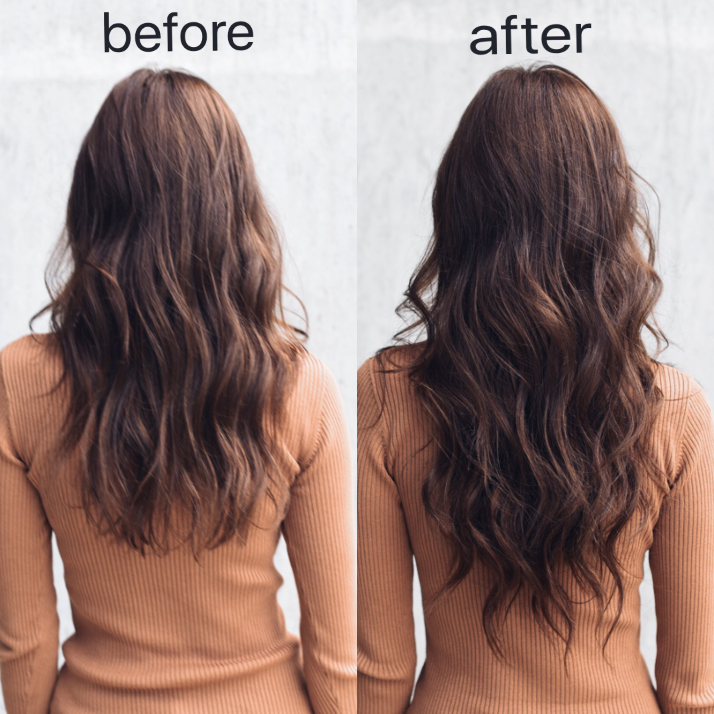 Clip-In Hair Extension Tips. Before and After