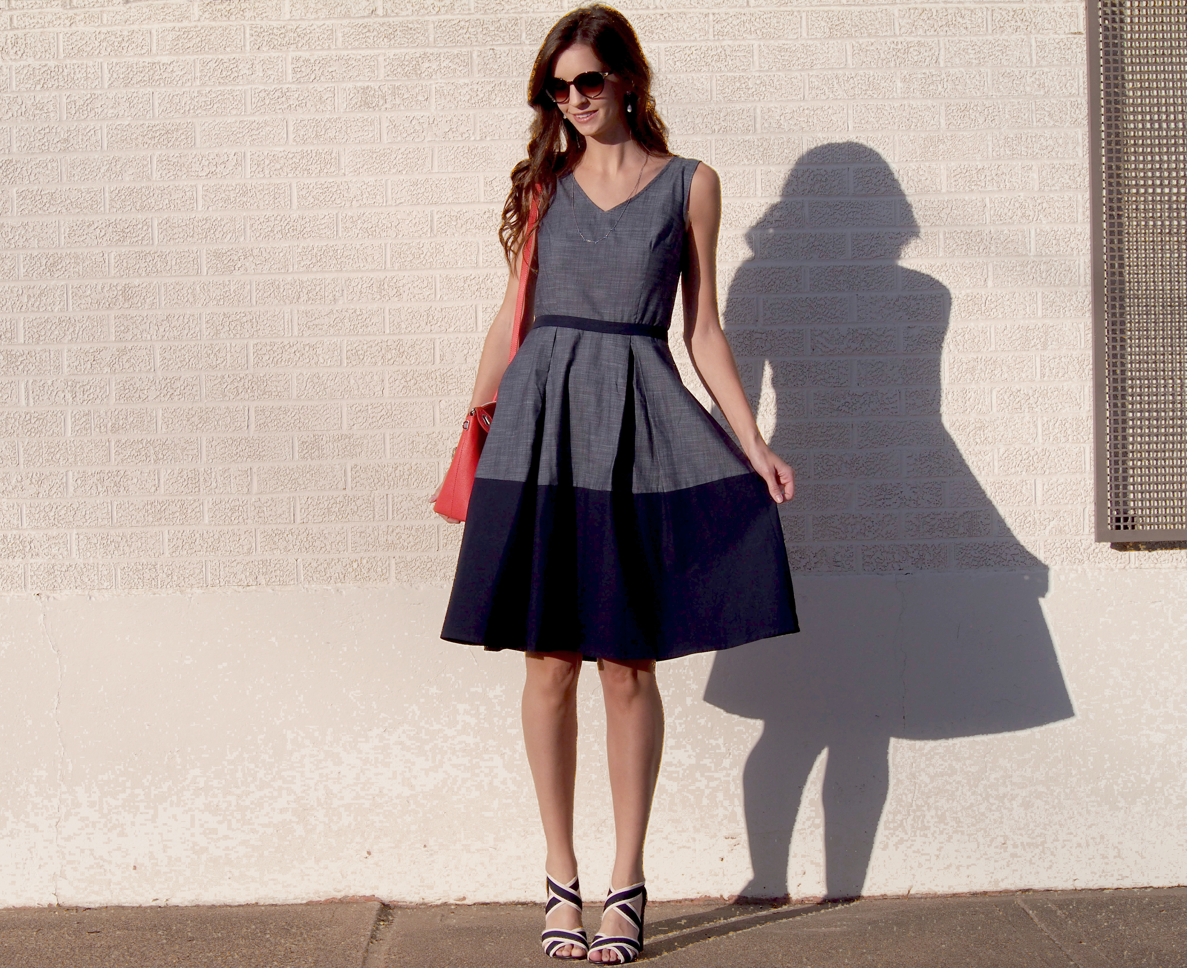 eshakti colorblock dress