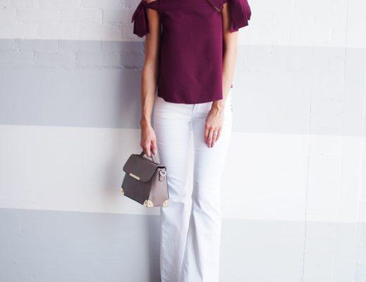asos off the shoulder minimalist top