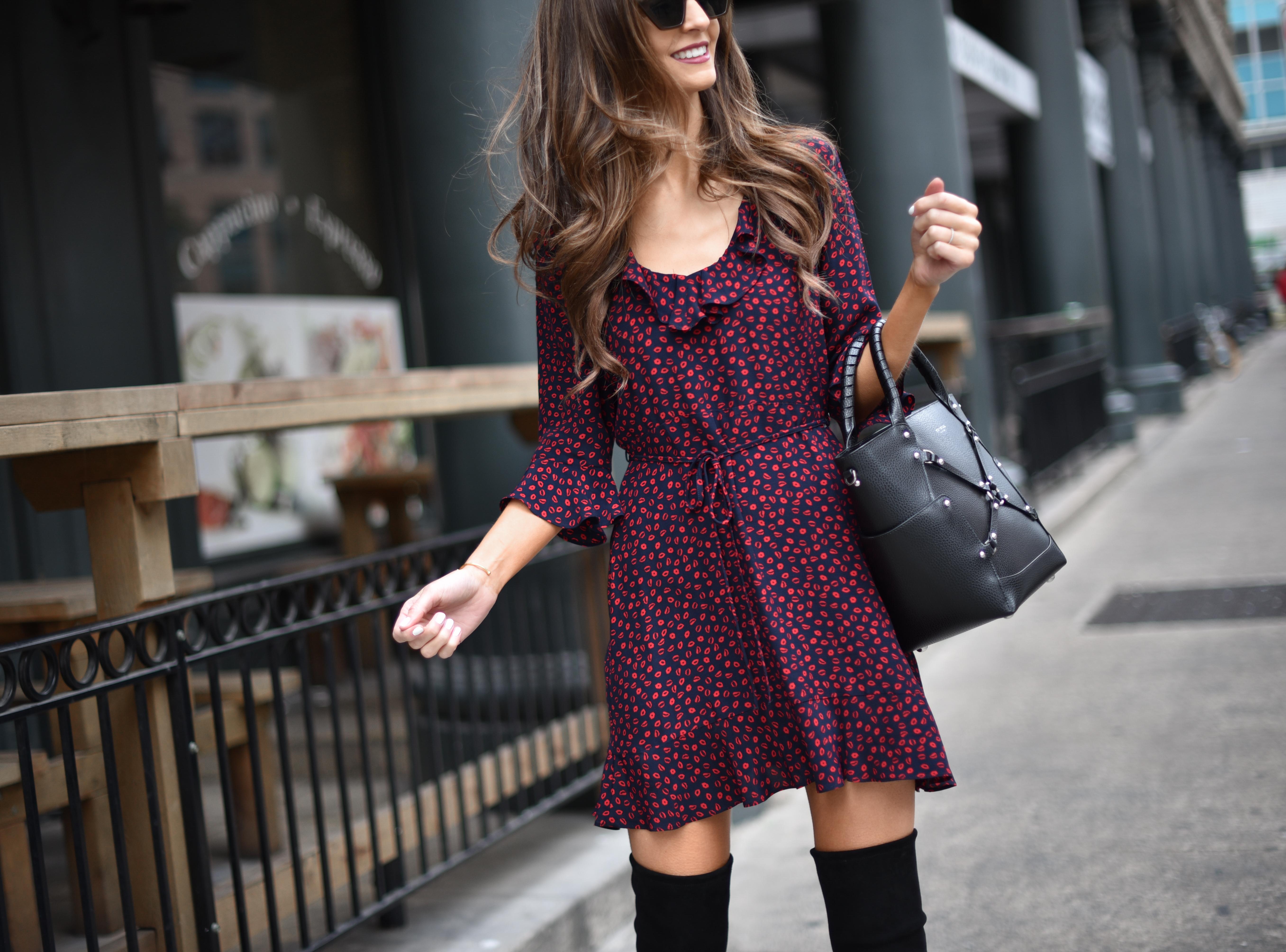 Valentines Day - Ruffle Print Dress